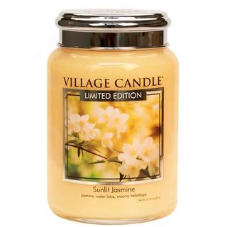 Village Candle Velká vonná svíčka ve skle Sunlit Jasmine 645g