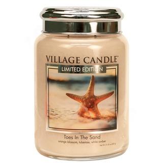 Village Candle Velká vonná svíčka ve skle Toes In The Sand 645g