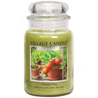 Village Candle Velká vonná svíčka ve skle Tomato Vine 645g - Rajčatová zahrádka