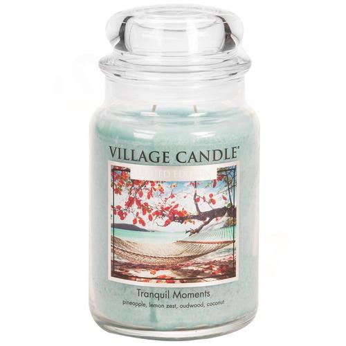 Village Candle Tranquil Moments 645g - střední vonná svíčka ve skle Jedinečné okamžiky