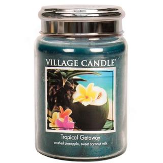 Village Candle Velká vonná svíčka ve skle Tropical Getaway 645g - Víkend v tropech