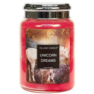 Village Candle Velká vonná svíčka ve skle Unicorn Dreams 645g - Sny jednorožce