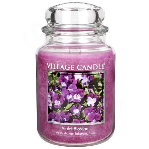 Velká vonná svíčka ve skle Violet Blossom 645g - Fialky