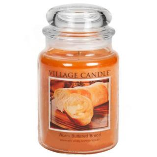 Village Candle Velká vonná svíčka ve skle Warm Buttered Bread 645g - Teplé máslové houstičky