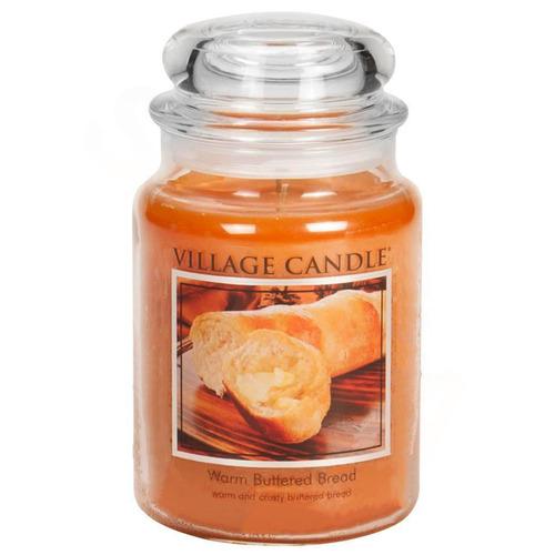 Village Candle Warm Buttered Bread 645g - velká vonná svíčka ve skle Teplé máslové houstičky