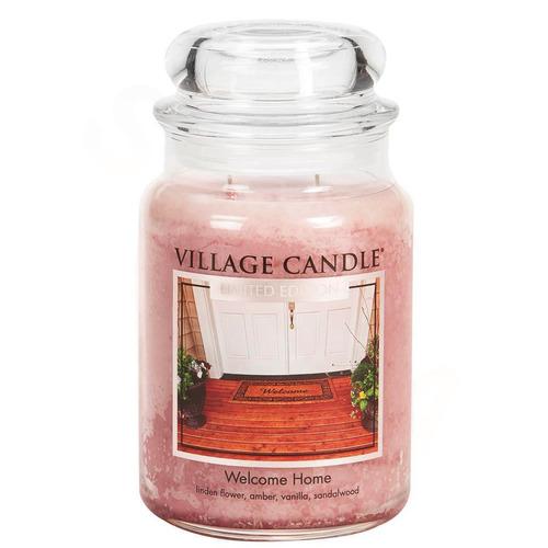 Village Candle Welcome Home 645g - velká vonná svíčka ve skle Vítej doma