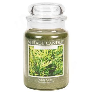 Village Candle Velká vonná svíčka ve skle White Cedar 645g - Cedrové dřevo