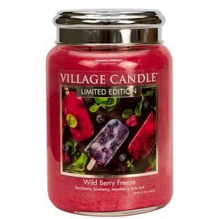 Village Candle Velká vonná svíčka ve skle Wild Berry Freeze 645g
