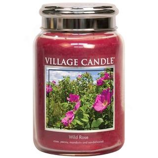 Village Candle Velká vonná svíčka ve skle WIld Rose 645g - Divoká růže