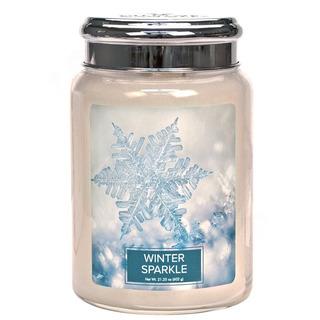 Village Candle Velká vonná svíčka ve skle Winter Sparkle 645g - Zimní třpyt