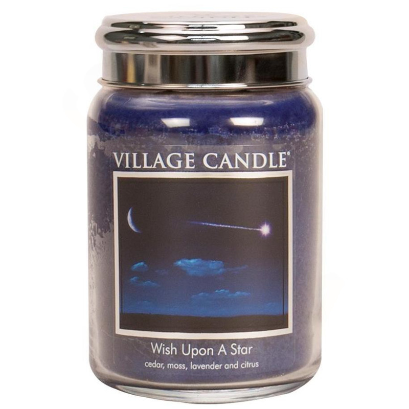Village Candle Velká vonná svíčka ve skle Wish Upon A Star 645g - Padající hvězda
