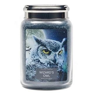 Village Candle Velká vonná svíčka ve skle Wizards Owl 645g - Čarodějova sova