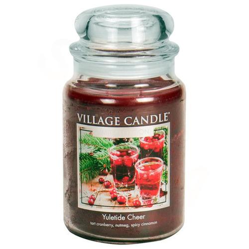 Village Candle Yuletide Cheer 645g - velká vonná svíčka ve skle Vánoční Čas