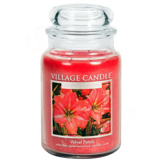 Village Candle Velká vonná svíčka ve skle Velvet Petals 645g - Sametové květy