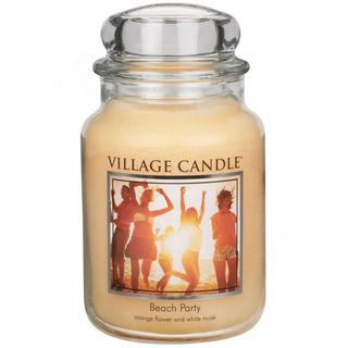 Village Candle Velká vonná svíčka ve skle Beach Party 645g - Plážová párty