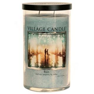 Village Candle Vůně měsíce únor 2020 - vonná svíčka ve skle Rain 538g - Déšť