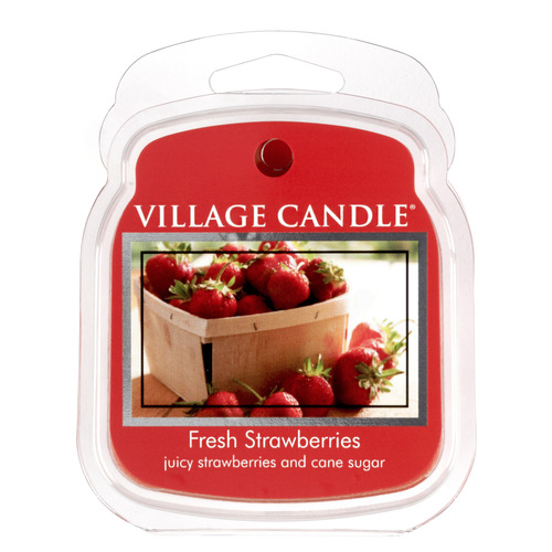 Village Candle vonný vosk Fresh Strawberries 57g - Čerstvé jahody