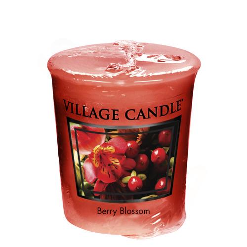 Village Candle Berry Blossom 57g - votivní svíčka Červené květy