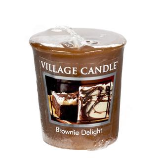 Village Candle Votivní svíčka Brownie Delight 57g - Čokoládový dortík