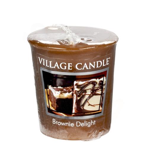 Village Candle Brownie Delight 57g - votivní svíčka Čokoládový dortík