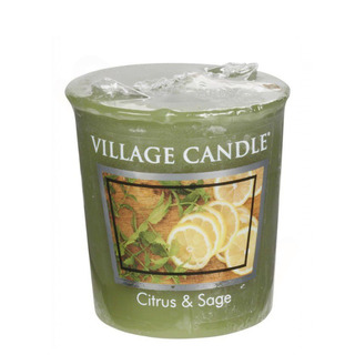 Village Candle Votivní svíčka Citrus and Sage 57g - Citrusy a šalvěj