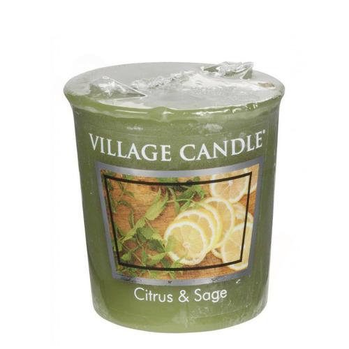 Village Candle Citrus and Sage 57g - votivní svíčka Citrusy a šalvěj