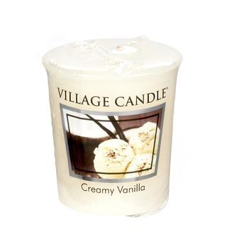 Village Candle Votivní svíčka Creamy Vanilla 57g - Vanilková zmrzlina
