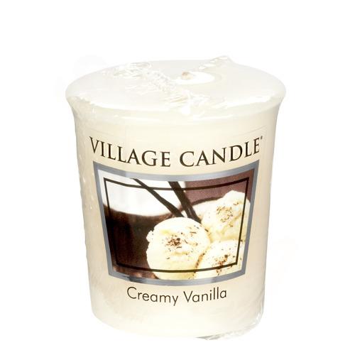 Village Candle Creamy Vanilla 57g - votivní svíčka Vanilková zmrzlina