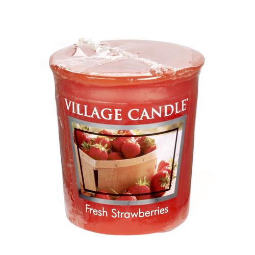 Village Candle Fresh Strawberries 57g - votivní svíčka Čerstvé jahody