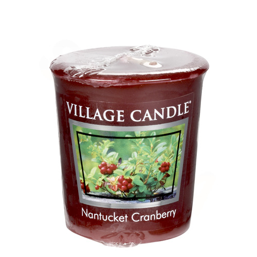 Village Candle Nantucked Cranberry 57g - votivní svíčka Brusinka