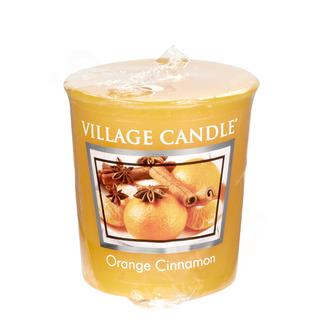 Village Candle Votivní svíčka Orange Cinnamon 57g - Pomeranč a skořice