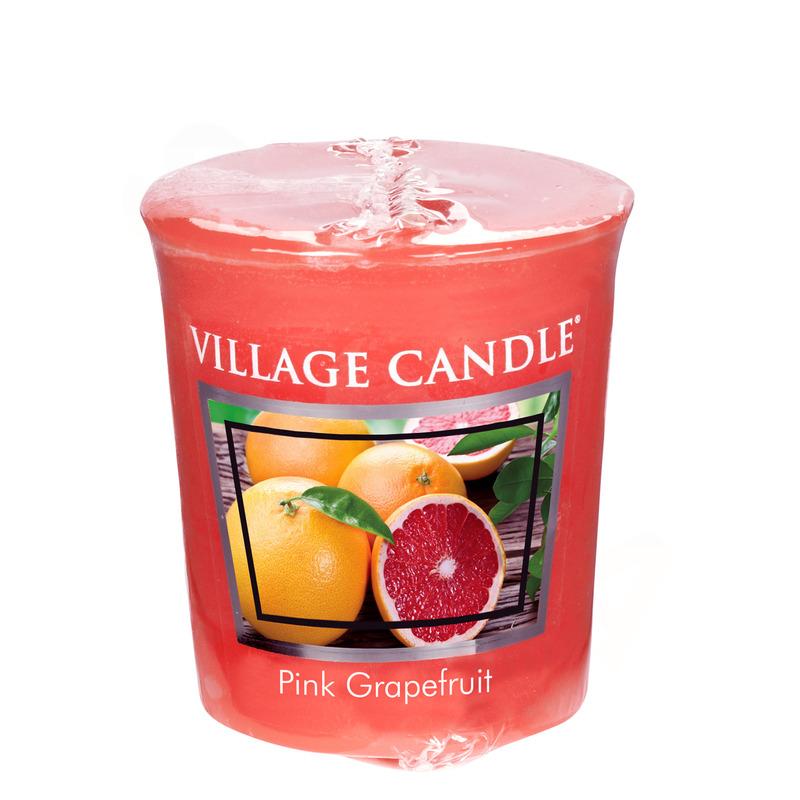 Village Candle Votivní svíčka Pink Grapefruit 57g - Růžový grapefruit