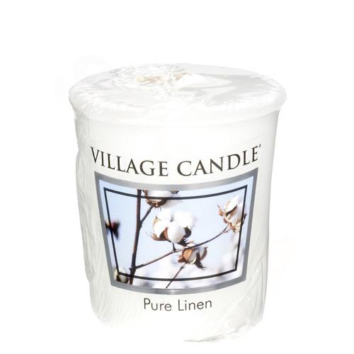 Village Candle Pure Linen 57g - votivní svíčka Čisté prádlo