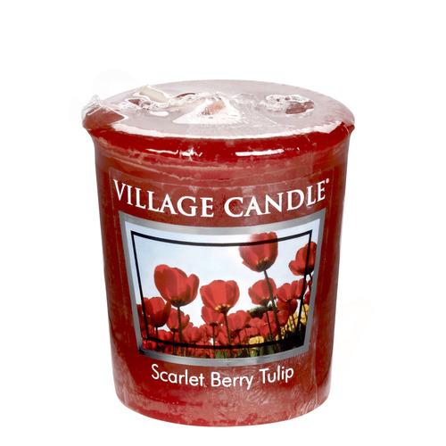 Village Candle Scarlet Berry Tulip 57g - votivní svíčka Tulipány