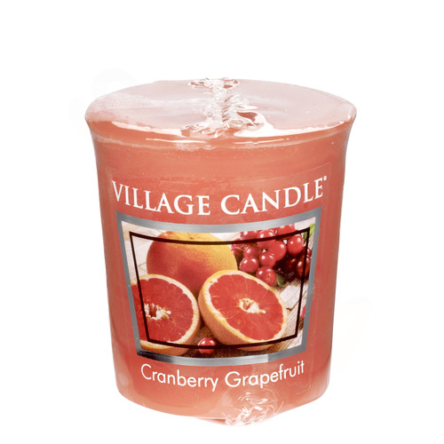 Village Candle Cranberry Grapefruit 57g - votivní svíčka Brusinka a grapefruit