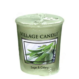 Village Candle Votivní svíčka Sage Celery 57g - Svěží šalvěj