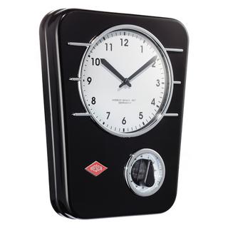 Wesco 322401-62 retro černé závěsné hodiny s minutkou