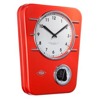 Wesco 322401-02 retro červené závěsné hodiny s minutkou