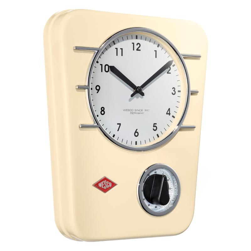 Wesco 322401-23 retro mandlové závěsné hodiny s minutkou